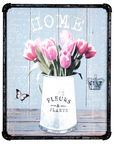 Home4you Print Picture 3D Metal 40x50cm Tulips