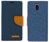 Forcell Canvas Book Case For Samsung Galaxy J5 J530F Dark Blue