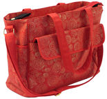 Summer Infant Changing Bag Red & Gold Swirl