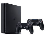 Sony Playstation 4 (PS4) Slim 1TB Black + 2 Controllers
