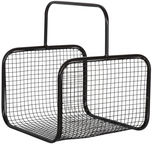 Home4you Wood Basket Lido 2 30x30xH25/41cm Black