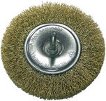 Proline Crimped Brass Plated Wire Wheel Brush 100mm