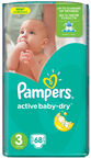 Pampers Active Baby-Dry S3 68