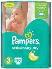 Pampers Active Baby-Dry S3 90