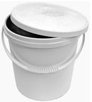 Plast Team Bucket With Lid White 16l