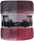 Home4you Plaid/Blanket Sherpa 130x160cm Red-Gray 75455