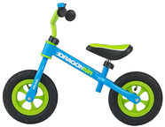 Milly Mally Dragon Air Balance Bike Blue 2763