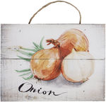 Home4you Wooden Printed Picture Country 15x20cm Onion 83767