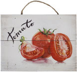 Home4you Wooden Printed Picture Country 25x35cm Tomatoes 83768