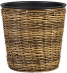 Home4you Flower Pot Wicker 34x31cm Brown 35152