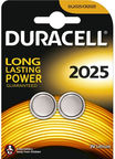 Duracell CR2025 Lithium Battery x2