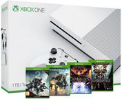 Microsoft Xbox One S 1TB White + Destiny 2 + Titanfall 2 + Dungeons 3 + Blackguards 2