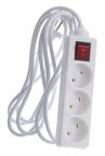 Okko Power Strip 3 Outlet 250V 10A 3m