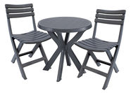 SN Bistro 4 Set Dark Grey