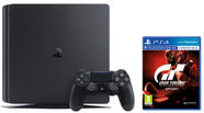 Sony Playstation 4 Pro 1TB (PS4) Black + 2 Dualshock Controllers + Gran Turismo Sport