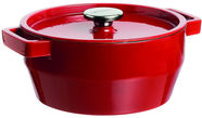 Pyrex SlowCook Round Cast Iron Casserole D28cm 6.3L Red