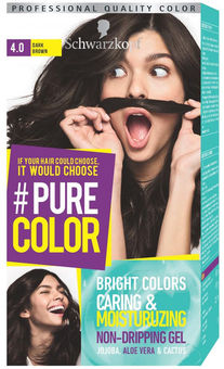 Schwarzkopf Pure Color Hair Color 40 Dark Brown краски для волос