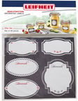 Leifheit Deko-Set Jar Labels Set Of 20pcs Black/White