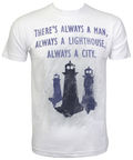 Gaya Entertainment T-Shirt Bioshock Lighthouse Universe White M