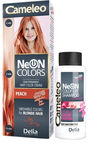 Delia Cosmetics Cameleo Neon Hair Colors 110ml + 50ml Mini Shampoo Peach