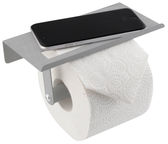 Axentia Toilet Paper Holder With Shelf