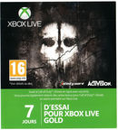 Microsoft Xbox LIVE Gold 7 Day Trial Membership Card