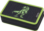 Herlitz Double Pencil Case 23 Pcs Green Dino