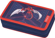 Herlitz Double Pencil Case 23Pcs Red Robo Dragon