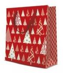 Paw Decor Collection Gift Bag Triangle Trees 20x10x25 cm