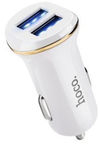 Hoco Premium Z1 Fast Dual USB Car Charger + Apple Lightning Cable White