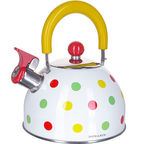 Mayer&Boch Whistling Kettle White With Colorful Dots 2l