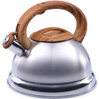Mayer&Boch Whistling Kettle Silver/Brown 2.8l
