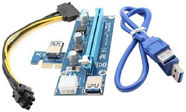 Qoltec Riser Card PCi-E 1x - 16x | USB 3.0 | SATA/ PCI-E 6pin