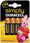 Duracell MN 1500 Simply Power AA LR6 Batteries 4x