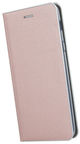 TakeMe Metal Edge Shine Book Case For Samsung Galaxy A6 Rose Gold