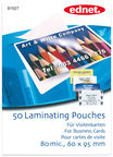 EDNET Laminating Pouches for Business Cards 50pcs