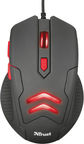 Trust Ziva Optical Gaming Mouse Black w/ Mouse Pad