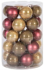 Home4you Christmas Balls 6cm 30pcs Mixed Colors