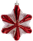 Home4you Christmas Ball 11cm Red Stripes