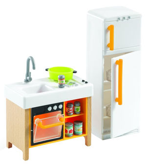 Djeco Doll House Compact Kitchen Set Aksessuary Dlya Kukol
