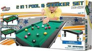 SN 2in1 Pool & Snooker Set