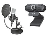 Trust GXT 1170 Xper Camera + GXT 252 Emita Microphone Streaming Set