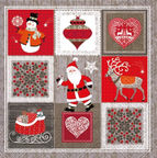 Paw Decor Collection Christmas Pictures 33x33cm
