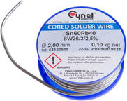 Cynel Unipress Cored Solder Wire SN60 2mm 100g