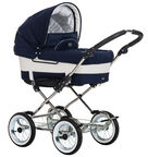 Emmaljunga Mondial de Luxe Navy with Duo Classic Chrome