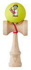 Krom Kendama X Chari Baseball Maple Neon Yellow