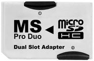 Platinet Memory Stick PRO DUO to 2 x Micro SDHC Adapter