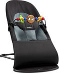BabyBjorn Bouncer Balance Soft Black/​Darkgrey With Wooden Toy 605001A