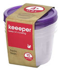 Keeeper Fredo Fresh Round Food Box 0.8l 4pcs Purple