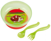 Canpol Babies Bowl With Lid And Cutlery Set 21/300 Assort